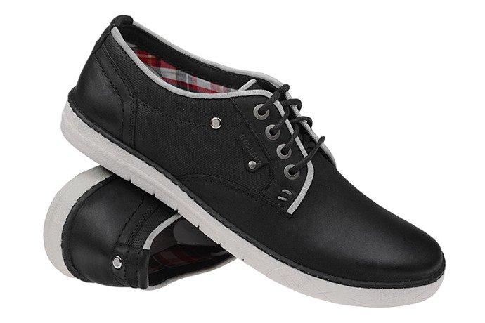 Półbuty sznurowane buty KACPER 1-1003 Czarne