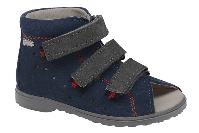 Sandałki Profilaktyczne Ortopedyczne Buty DAWID 1041 Granat G