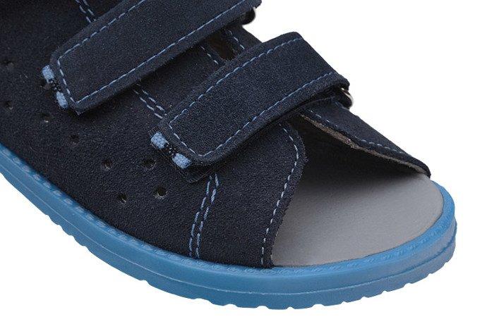 Sandałki Profilaktyczne Ortopedyczne Buty DAWID 1042 Granat GN