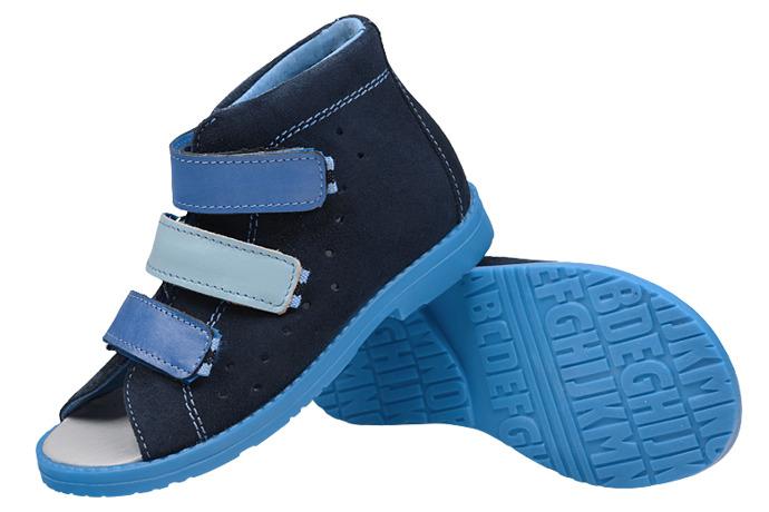 Sandałki Profilaktyczne Ortopedyczne Buty DAWID 1042 Granat GN-II