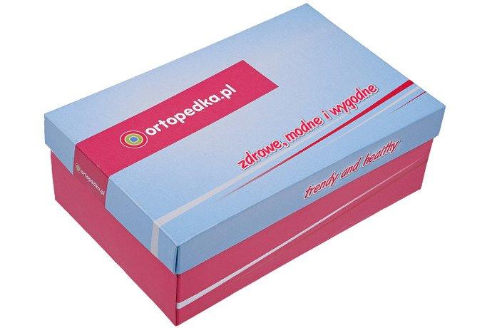 Sandałki Profilaktyczne Ortopedyczne Buty DAWID 1042 Granat+Róż GLKP