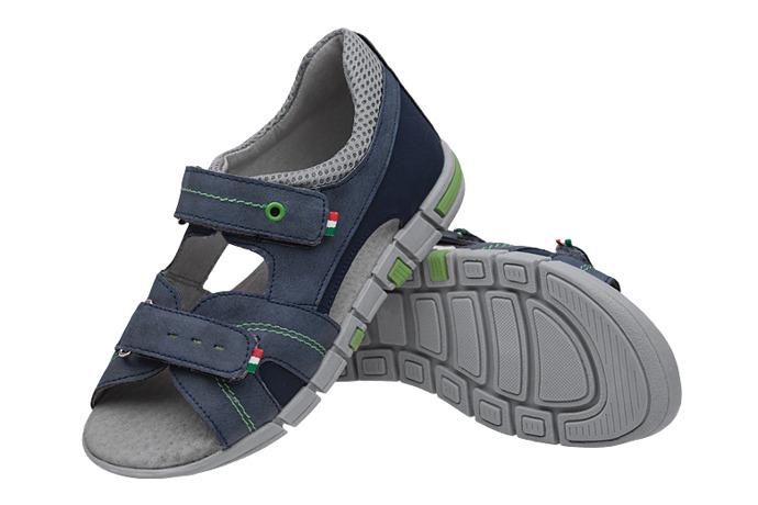 Sandałki dla chłopca KORNECKI 6337 Granatowe Niebieskie
