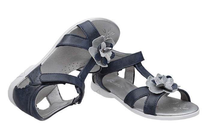 Sandałki dla dziewczynki KORNECKI 4319 Granatowe