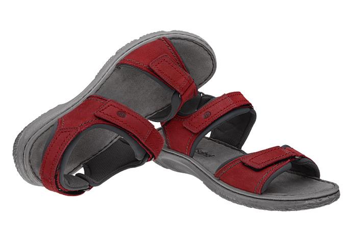 Sandały JOSEF SEIBEL 27606 Carlo 06 Czerwone