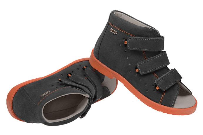Sandały Profilaktyczne Ortopedyczne Buty DAWID 1043 Szary SZ W17