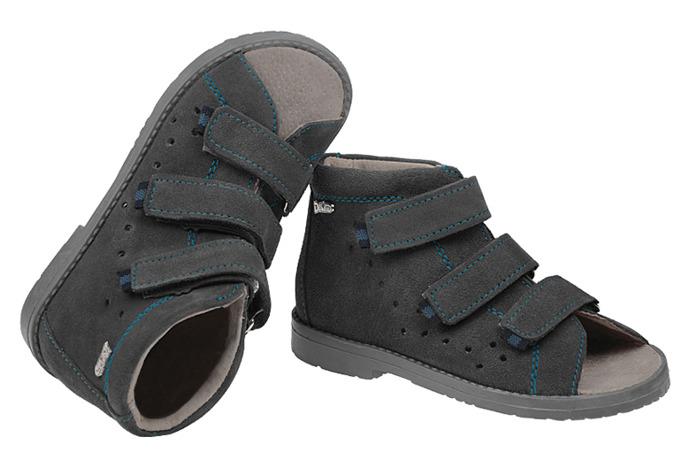 Sandały Profilaktyczne Ortopedyczne Buty DAWID 1043 Szary SZG