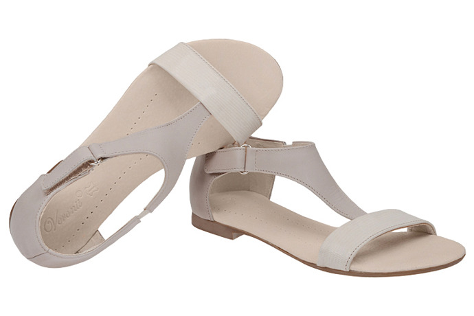 Sandały damskie VERONII 5007 Beżowe Ecru