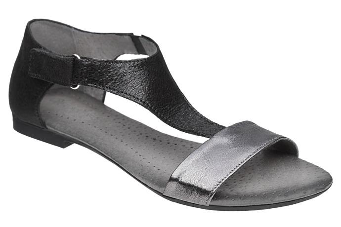Sandały damskie VERONII 5007 Czarne+Nikiel L19