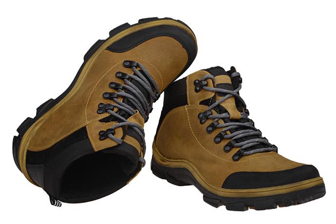 Trzewiki trekkingowe KORNECKI 5273 Żółte ocieplane