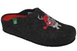 Kapcie Pantofle domowe Ciapy Dr Brinkmann 320425-9 Grafitowy