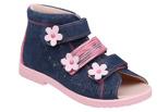 Sandałki Profilaktyczne Ortopedyczne Buty DAWID 1042 Granat+Róż GLTP