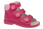 Trzewiki Profilaktyczne Ortopedyczne Buty DAWID 953-3 RC Różowe